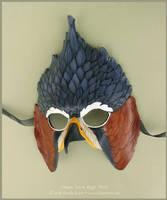 Ornate Hawk Eagle Leather Mask by windfalcon