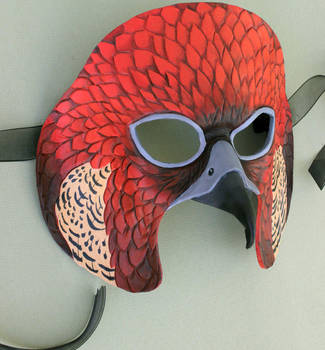 Red Falcon Leather Mask by windfalcon