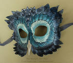 Blue Starlight Owl Mask by windfalcon