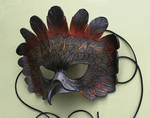 Winter Woods II Leather Mask by windfalcon