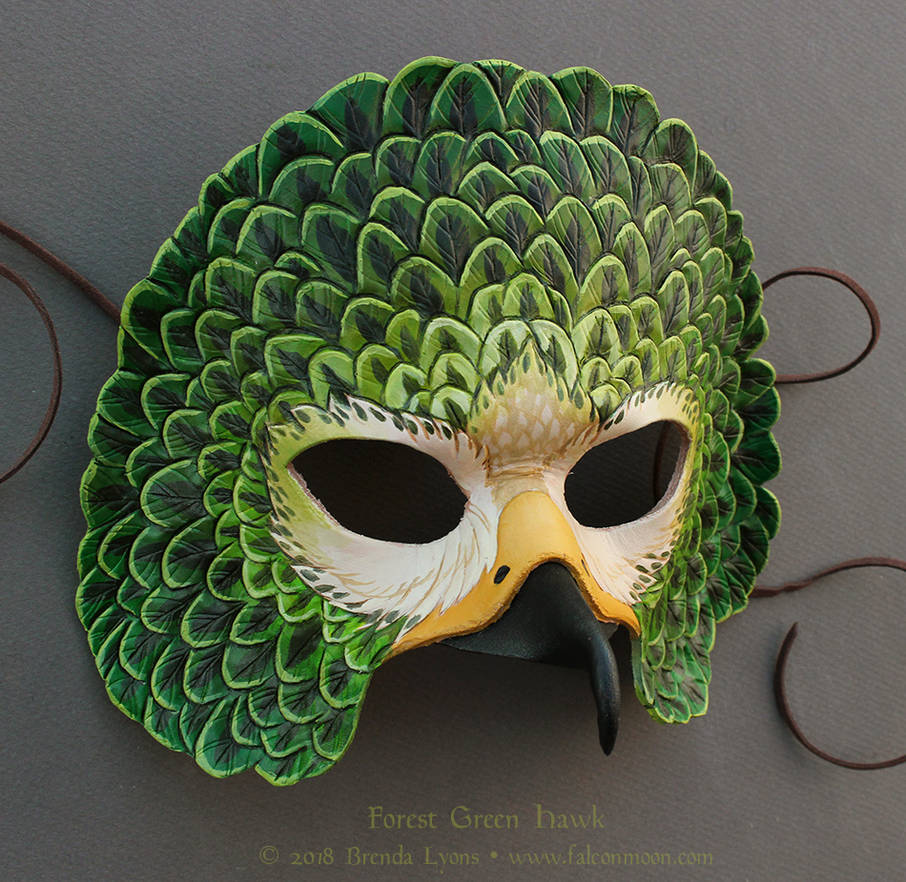 Forest Green Red-Tailed Hawk Mask by windfalcon