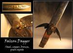 Steel and Bronze Falcon Dagger by windfalcon