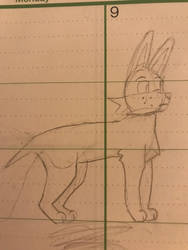 Lazy planner sketch of a dog by BeBlaze