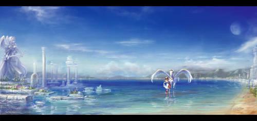 memories of blue by Harukim