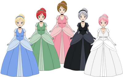 Kisekae Export: Cinderella Ball Gown by BlackRoses96