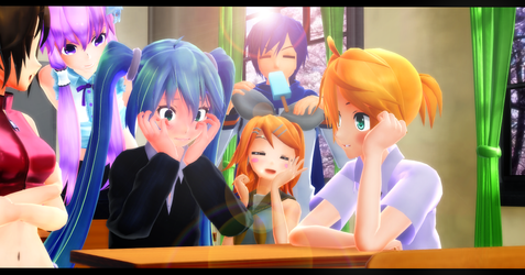MMD In the classroom by MMDMikuMikuLen