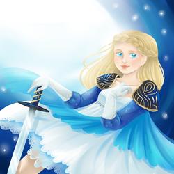 Blue Knight by Lady-Ignea