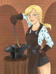 Blacksmith by Lady-Ignea