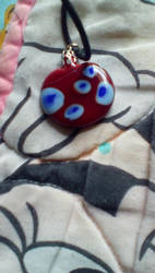 My glass pendant (front) by The24thDoctor