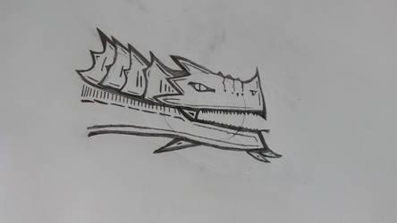 Dragon Sketch by MerkavaDragunov