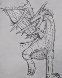 Random Dragon Sketch by MerkavaDragunov