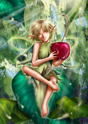 The Green Elf by Ecthelian