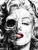 Marilyn zombie by Heartz0mbie