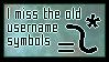 I Miss The Old Username Symbols by FabulousFrozenSun