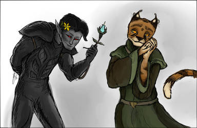 Morrowind Sketch Series #27: A VERY special friend by ShoutFinder