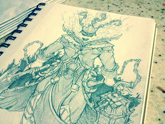 [League of Legends/Sketch]: Thresh by Zungie