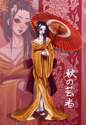 Autumn Geisha by yaminolady
