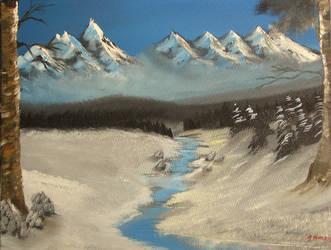 blue sky winter by johnafthmorris