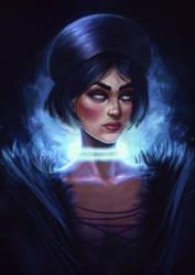 Cyana    concept art portrait by pinkastr