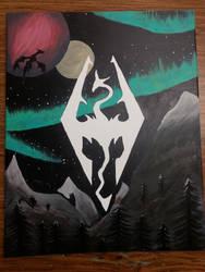 Skyrim Negative Space by Darkrai4813