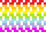 rainbow pixles by kemygirl