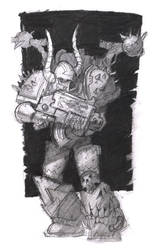 Chaos Space Marine by megalaros