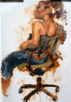 Woman on Chair by megalaros