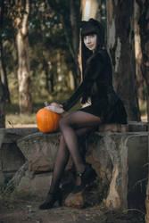 Pumpkin Cat by MaySakaali