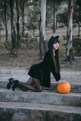Black cats howl, Pumpkins laugh by MaySakaali