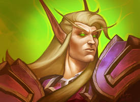 Blood Elf Warlock by Hartiganhero
