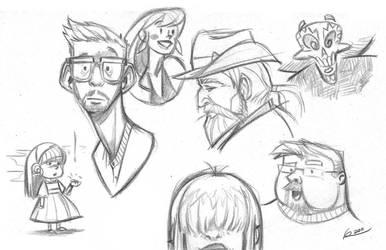 Sunday Sketch Club 001 by ReevolveR