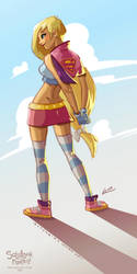 Supergirl loosen up sketch by ReevolveR