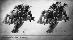 concept 4 legged vehicle by jjeeaann