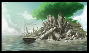 The island cave. by jjeeaann