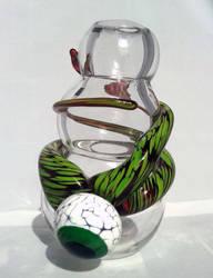 Blown Alien Glass Vase by TheGlassyEye