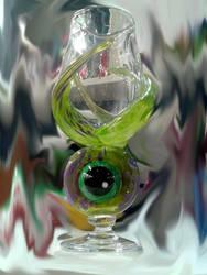 Tribus Pedibus Occulum Goblet by TheGlassyEye