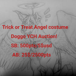 Trick or treat Doggo! (Auction) by ChemicallyAbsolute