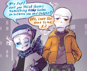 SC!Sans Annoying His Bro by thegreatrouge