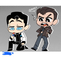 Gavin And RK900 by thegreatrouge