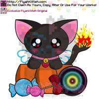 FiyahKitteh Halloween Chibi by FiyahKitteh