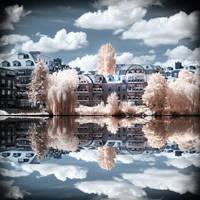 Lake View Berlin Havel infrared by MichiLauke