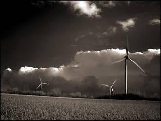 Three Wind Turbines by MichiLauke