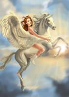 The Flight of Pegasus by inuevan