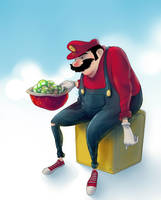 Fat'n Old Super Mario by vincenthachen