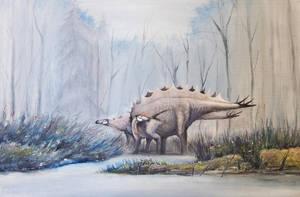 Stegosaurus from Sharypovo (Russia) by Antresoll