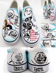 Rage Comic Shoes by artsyfartsyness