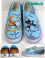 Hunger Games Canvas Shoes by artsyfartsyness