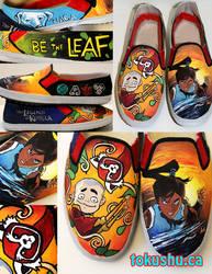 Legend of Korra Avatar Shoes by artsyfartsyness