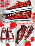 Strawberry Shoes by artsyfartsyness