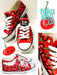 Cherry Shoes Low Top Shoes by artsyfartsyness